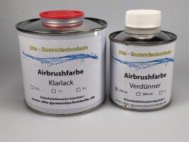 Airbrushfarbe Verdünnung Klarlack