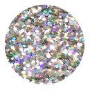 Holografisches Glitter Silber 0,4 mm 50 ml
