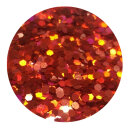 Holografisches Glitter Rot 1,0 mm 20 ml