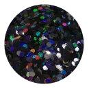 Holografisches Glitter Schwarz 0,4 mm 20 ml