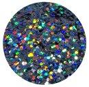 Holografisches Glitter Anthrazit