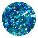 Holografisches Glitter Hellblau 0,4 mm 20 ml