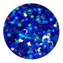 Holografisches Glitter Royalblau 0,4 mm 20 ml