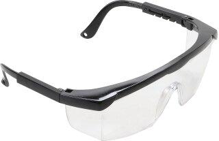 Schutzbrille mit verstellbarem Bügel   transparent