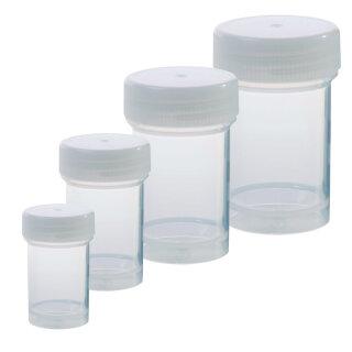 Leere Kunststoffdose für Glitter