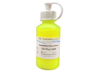 Airbrushfarbe UV-Fluo gelb