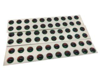 3d Klebeaugen 5mm grün/rot/oval pupil