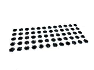 3d Klebeaugen 6mm silber