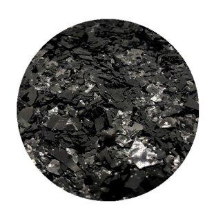 Crushed Ice Glitter Schwarz