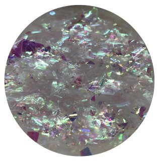 Crushed Ice Glitter irisierend pink